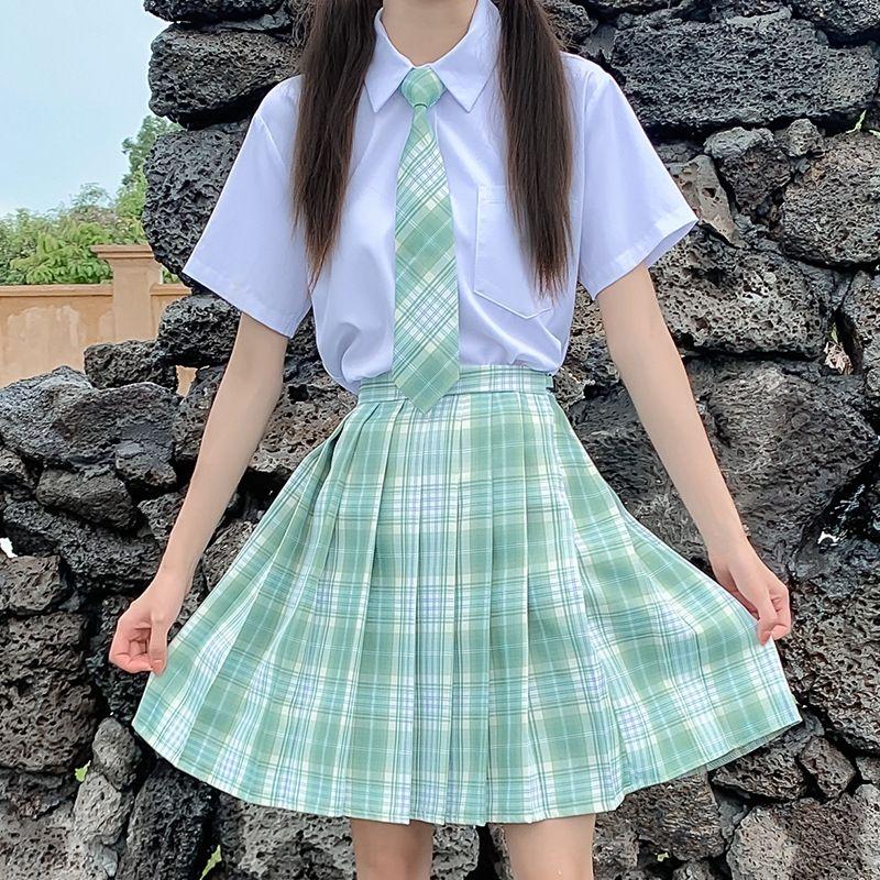 8aHpU jk pieghe senso scuola plaid gonna jk studente nuovo plaid uniforme gonna a pieghe scuola studente senso uniforme nuova