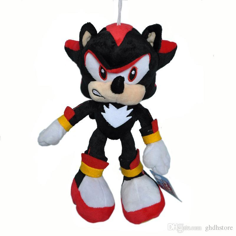 """Heiße neue 10"""" 25CM The Hedgehog-Schatten-Plüsch-Puppe Anime-Puppen Anhänger Stuffed Geschenke Plüschtiere"""