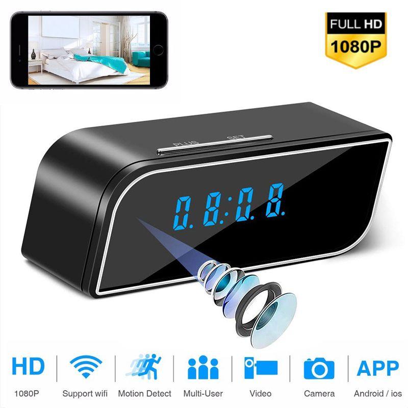 ليلة الأمن 1080P WIFI كاميرا صغيرة الوقت منبه لاسلكي استشعار الحركة IP الرؤية مايكرو الرئيسية مراقبة عن بعد مخبأة مربية كاميرا