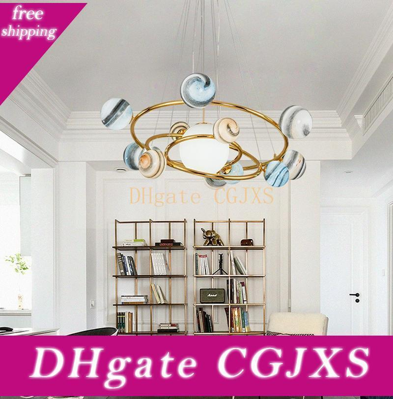 European Style Nordic Glass Chandeliers Creative Clothing Store Cafe Chandelier Restaurant Bar Earth Led Chandelier Lighting Bedroom Planet Ceiling Lights Pendant From Zhizhilo 657 33 Dhgate Com