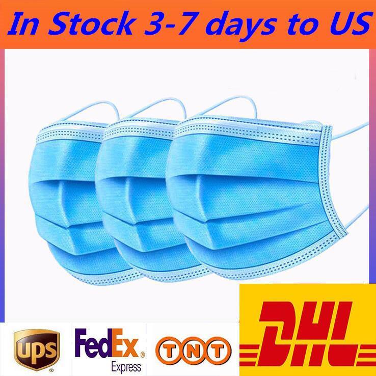 Свободная перевозка груза, 50 упаковок одноразовых трехслойной плавкого защитного дышащий пылезащитного masks200I