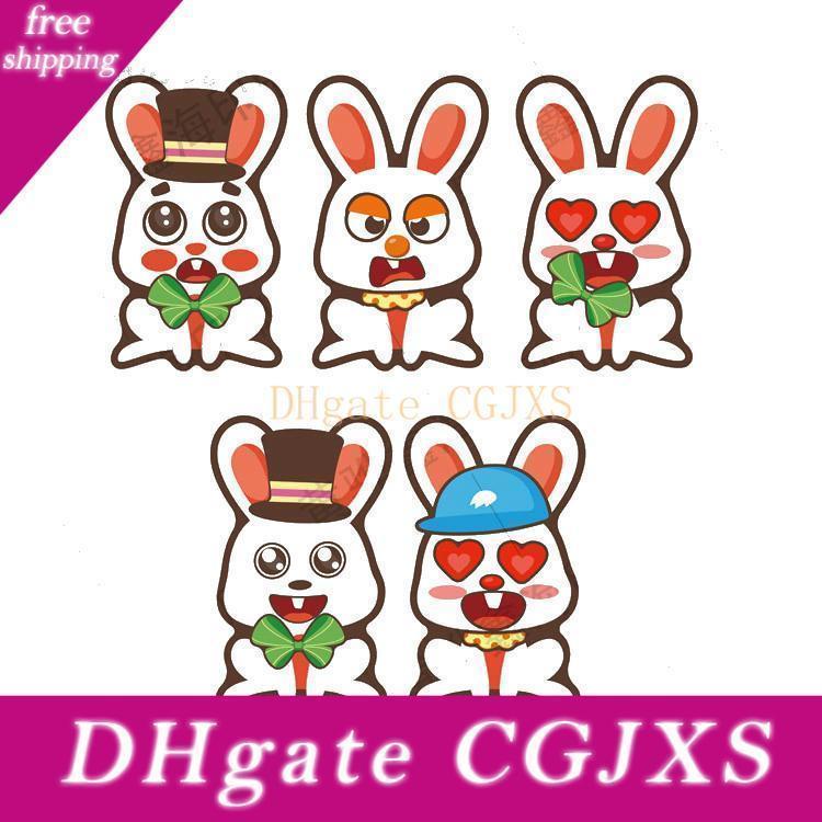 Cartoon Ostern Puzzle Aufkleber Kaninchen Huhn Farbe Ei Puzzle-Aufkleber für Kinder Beschichtete Papieraufkleber Kinder Kindergarten-Intelligenz-Spielzeug