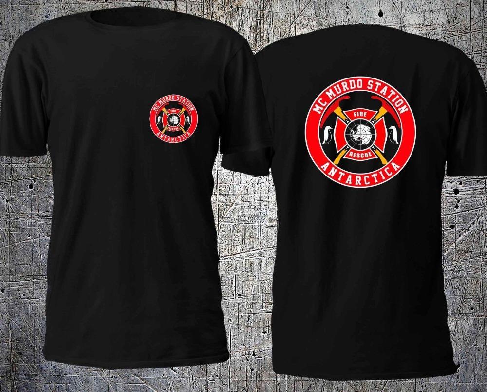 NOUVEAU McMURDO ANTARCTIQUE STATION D'INCENDIE DE SAUVETAGE T-SHIRT TAILLE S-4XL T-shirt décontracté Vêtements pour hommes