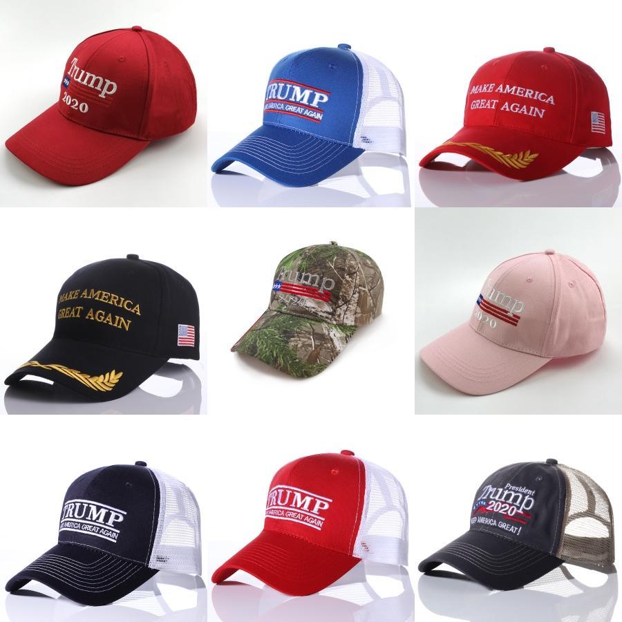 Baseball Trump chapéu ajustável Verão Faça América Great Again Trump 2020 Snapback Mash Caps # 288