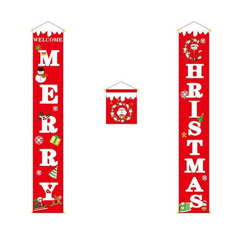 Noel Couplet Banner Sundurma İşaret Noel Kapı Aile Partisi Parti AVM Tatil Dekorasyon Malzemeleri Asma