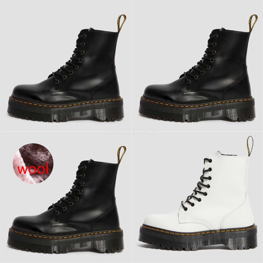 Perimedes Kar Martin Boots Kadınlar Katı Peluş Martin Boots Kadınlar Yuvarlak Burun Dantel-up Kadınlar'S Sonbahar ayında Bilek Billetera Mujer 1460 # 802