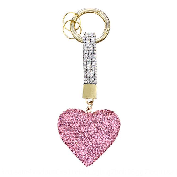 Dejia Creative pendentif main du sac de la chaîne clé cœur plein de femmes amour corde japonais coréenne accessoires de voiture pendentif diamant accessoires Diamo
