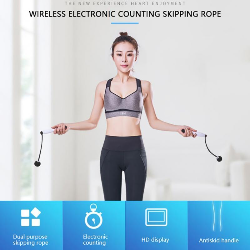 Cordless Jump Rope Rope Skipping Digital Counting Calorie Counter Jump Ropes Sport Rope Skipping Exercises Equipments