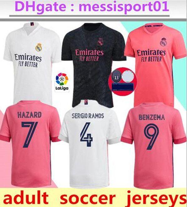 Futebol verdadeira Madrid 20 21 PERIGO Jovic BENZEMA camiseta de futbol 2020 camisa de futebol 2021 VINICIUS Rodrygo MODRIC