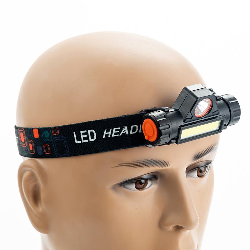 LED COB Waterproof faróis Luz de trabalho Magnet Farol 18650 Battery Pesca Camping Outdoor Biking Equipamento cabeça da tocha Luz