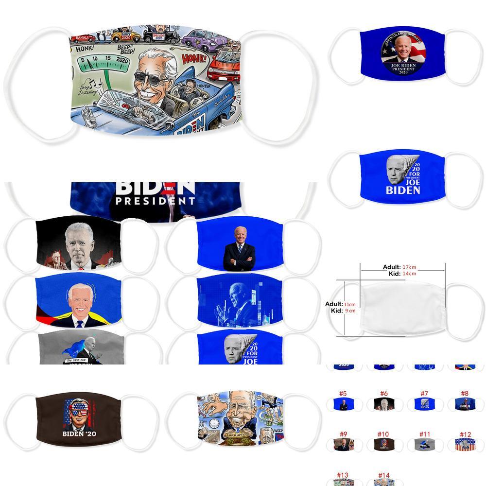 Президент Америки 14style Джо Байден лицо Выборы Supplies моющийся дышащий пыл Печать Adult Kid Маска Оптовой Owe927
