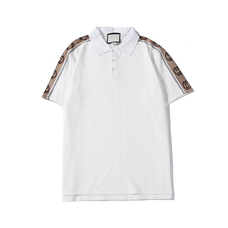 2020 Европа Париж Лоскутная Мужчины Мода Мужчины футболку дизайнерские футболки людей вскользь Медузы одежда из хлопка Мужская футболка Поло