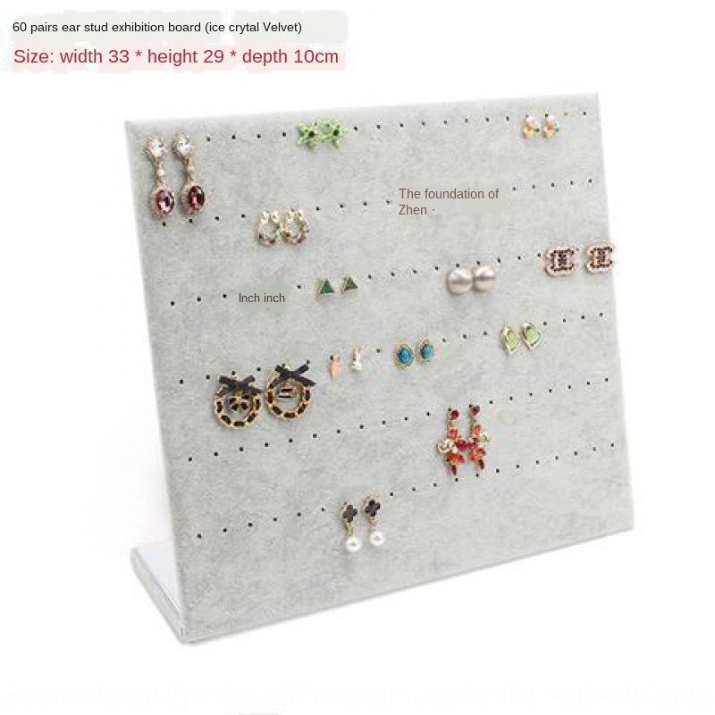 Flanell einfacher Ohrringe Schmuck Ohr Nagelplatte Schmuck Regal hängender Halskette Ohrringe box Box Lagerregal Lagerregal Anzeige nach Hause