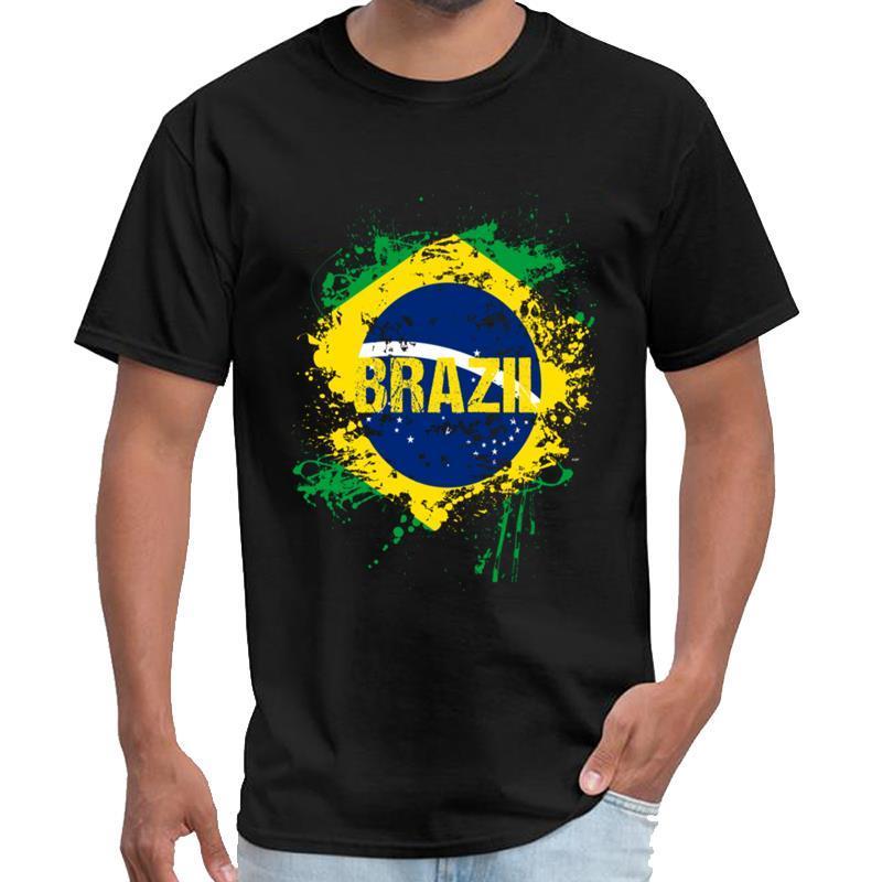 Vintage Brasile brasiliana Bandiera Nazionalità Rio Samba stormiworld t shirt homme SKT t1 maglietta grandi dimensioni s top tee ~ 5xL