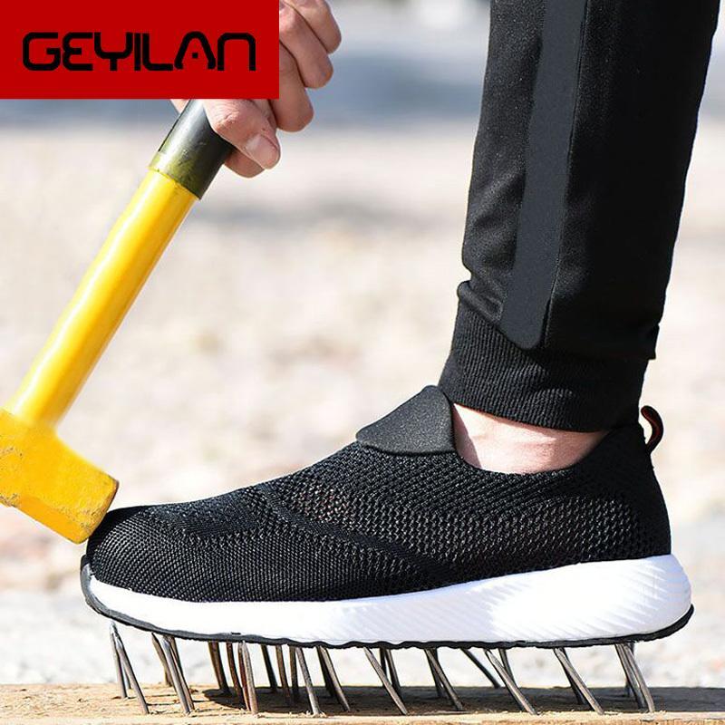 Il lavoro Stivali acciaio Toe Shoes Sneakers Uomo Donna sicurezza sul lavoro Stivali traspirante sicurezza scarpe anti-smashing Indestructible