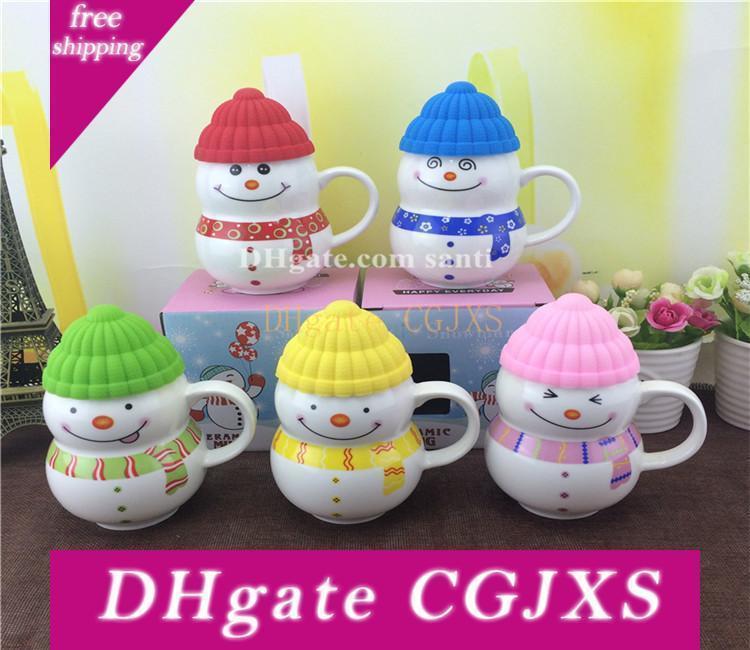 Regalo di Natale Bicchieri Presente tazza di ceramica del fumetto Seriesc Snowman Cup regalo