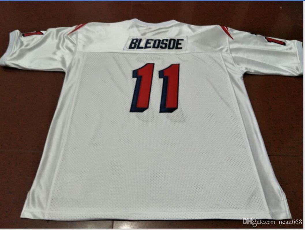 Özel Erkekler # 11 Drew Bledsoe Takım Çıkarılmış 1990 Beyaz Koleji Jersey boyutu s-4XL veya özel herhangi bir ad veya numara forması
