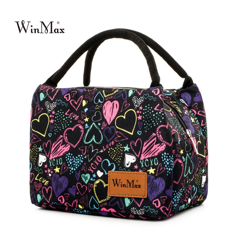 Winmax New Arrive colorful Insulated Lunch Bag Portable keep Food Safe warm Big Thermal Cooler business launch Box school MX200717
