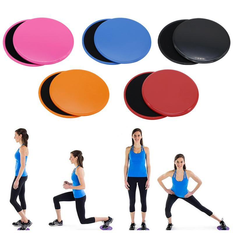 2 Pcs Discs Slider Fitness Disc Gym Accessories Exercise Sliding Plate for Yoga Gym Abdominal Core Training Sport Fitness Mats