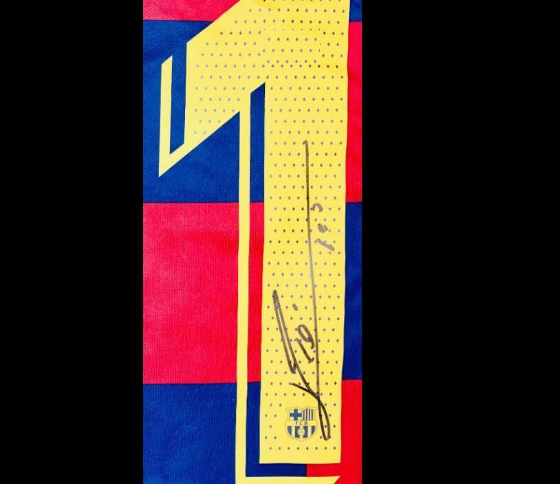 Messi 19 20 Подпись signatured автограф футбол Джерси размера рубашки S - 3XL
