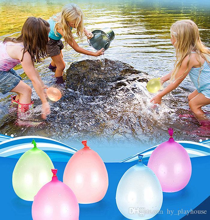 Beach Party Children balão de água colorida 111pcs Toy Magic exterior Bomba de água Balão de tiro Crianças Gag Jogo