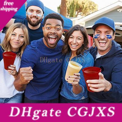 DHL de 20 onzas de silicona Pint Glasses irrompibles de goma de vino Vasos 8 El color puede ser por encargo cualquier logotipo