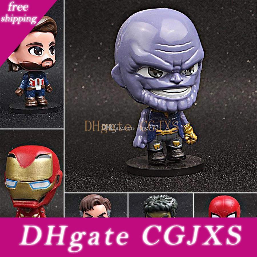 Vengadores: Final de partida Justicia Funko Pop Liga de Figuras Marvel Avengers súper héroe Caracteres de acción de juguete para niños Vinilo calcula los juguetes