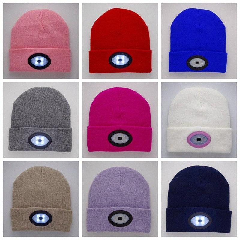 Kadınlar Erkek LED kasketleri Cap Şapka Yeni Kış Sıcak USB Şarj Caps Glow Beanie Açık Noel Parti Şapkası DHL HH7 1832 tutar d 04qA # Caps Örme