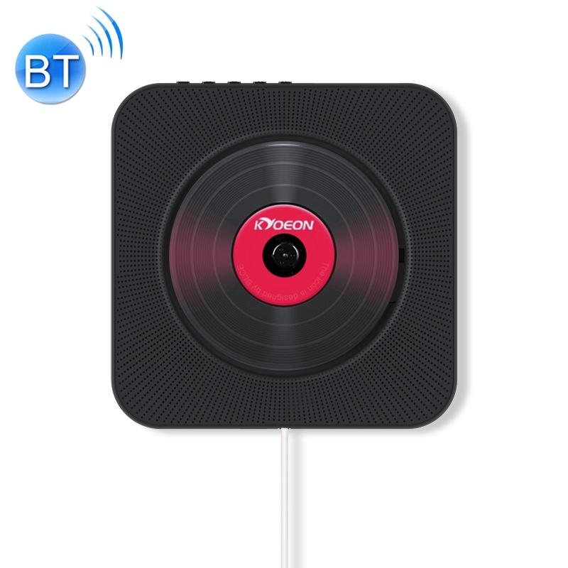 KC-808 Wall Mounted Bluetooth 4.2+EDR CD Player with Remote Control, Support FM