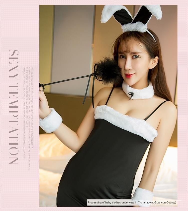 Seksi iç çamaşırı seksi üniforma günaha sevimli tavşan iç çamaşırı tu Er Tu Er üniforma günaha rol oynama gece kulübü tavşan kulaklar