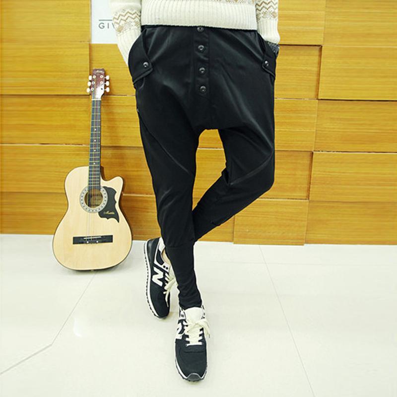 2020 verano el harem fino delgado pantalones casuales hombres pantalones ropa de la etapa trajes del cantante de ropa no convencionales de los hombres