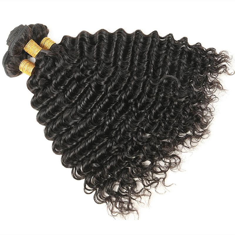 Wholesale Peruvian Deep Wave Hair Bundle 1Kg 10Pcs Lot Unprocessed Virgin Human Hair Extension Bundle Weave Cut From One Donor Natural Color