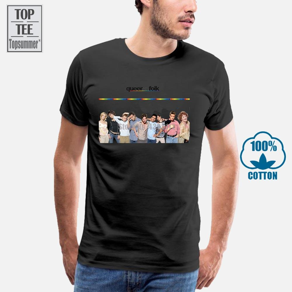 100% хлопок Vintage Tee рубашки Queer As Folk Ти Дизайн мужская майка Hipster Tops Customize отпечатанных с коротким рукавом тройники