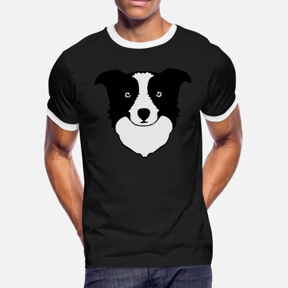 Border Collie t shirt homme t-shirt de caractère Vêtements S-3XL Lumière du soleil Humour Printemps Outfit chemise