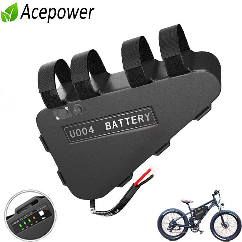 Batteria 52V 28Ah 48V Triangolo E-Bike con Samsung 35E Li-ion cellulare per 1500W 1000W 750W bicicletta elettrica Bafang CSC Tongseng
