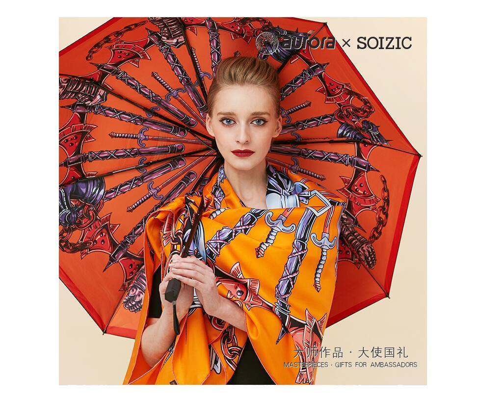 Knight Kunst Anti-UV Parasol VLIDER на Bloemen Vrouwen ParaPlu складной Parasol Fashion Lady Draagbare Meisje ParaPlu подарок