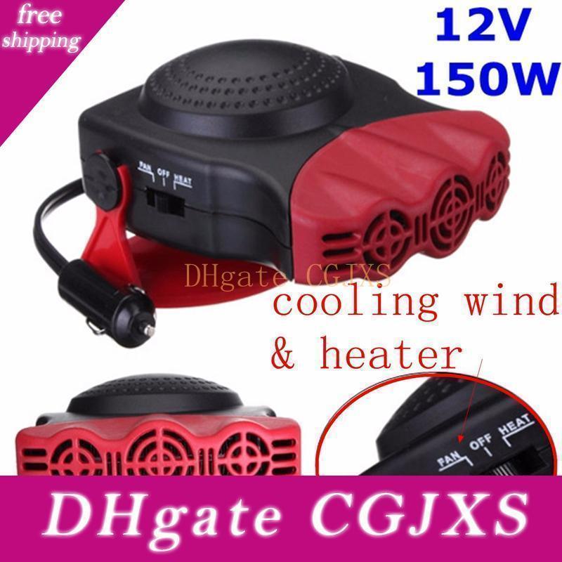 Portátil 2 em 1 Auto Car Aquecedor Aquecimento Defroster 12v 150w com swing out Handle Fan Hot Pára-brisas Janela Demister