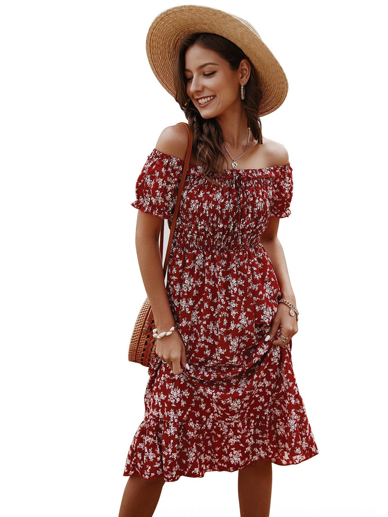 das Yym6g 2NwE5 Design Mulheres impresso 2020 impressos Bohemian Prod Produto Design das mulheres primavera / verão 2020 Primavera / Verão Bohemian vestido vestido Ne