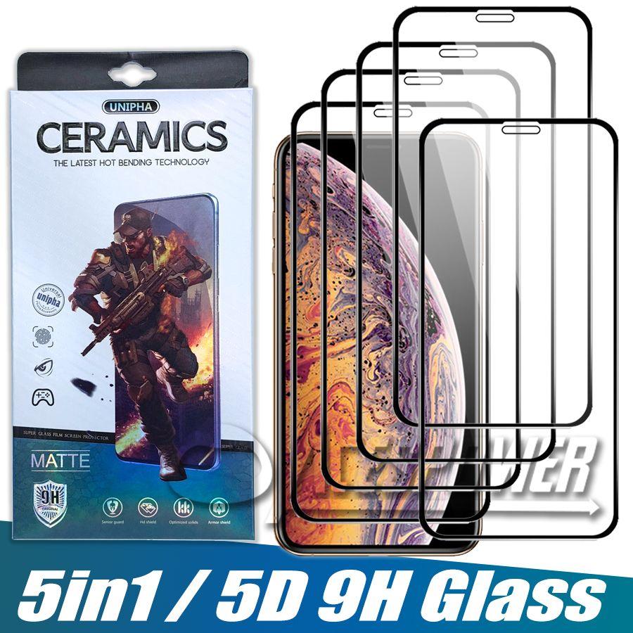Tam Kapak Temperli Cam iphone 12 Pro Max 11 x XS XR SE 2020 Piksel 3XL Ekran Koruyucu Paketi