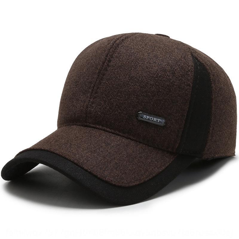 Orta yaşlı ve yaşlı şapka erkekler moda kış Yeni açık sıcak yün eski beyzbol Sıcak st çevresi üst üst kapağı büyük baş gösterdi