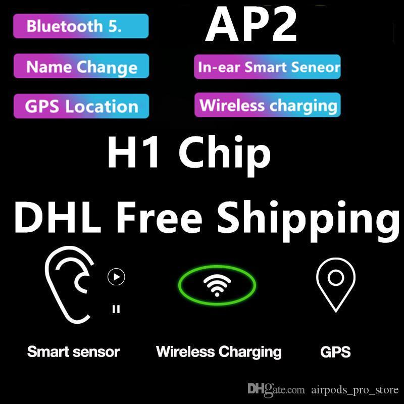 Kablosuz 5.0 Bluetooth Kulaklık H1 Chip AP2 Kutusu PK i12 i200 i500 Hi Siri Şarj TWS isim ver GPS Air 2 Gerçek Stereo Kulaklık Kablosuz bakla