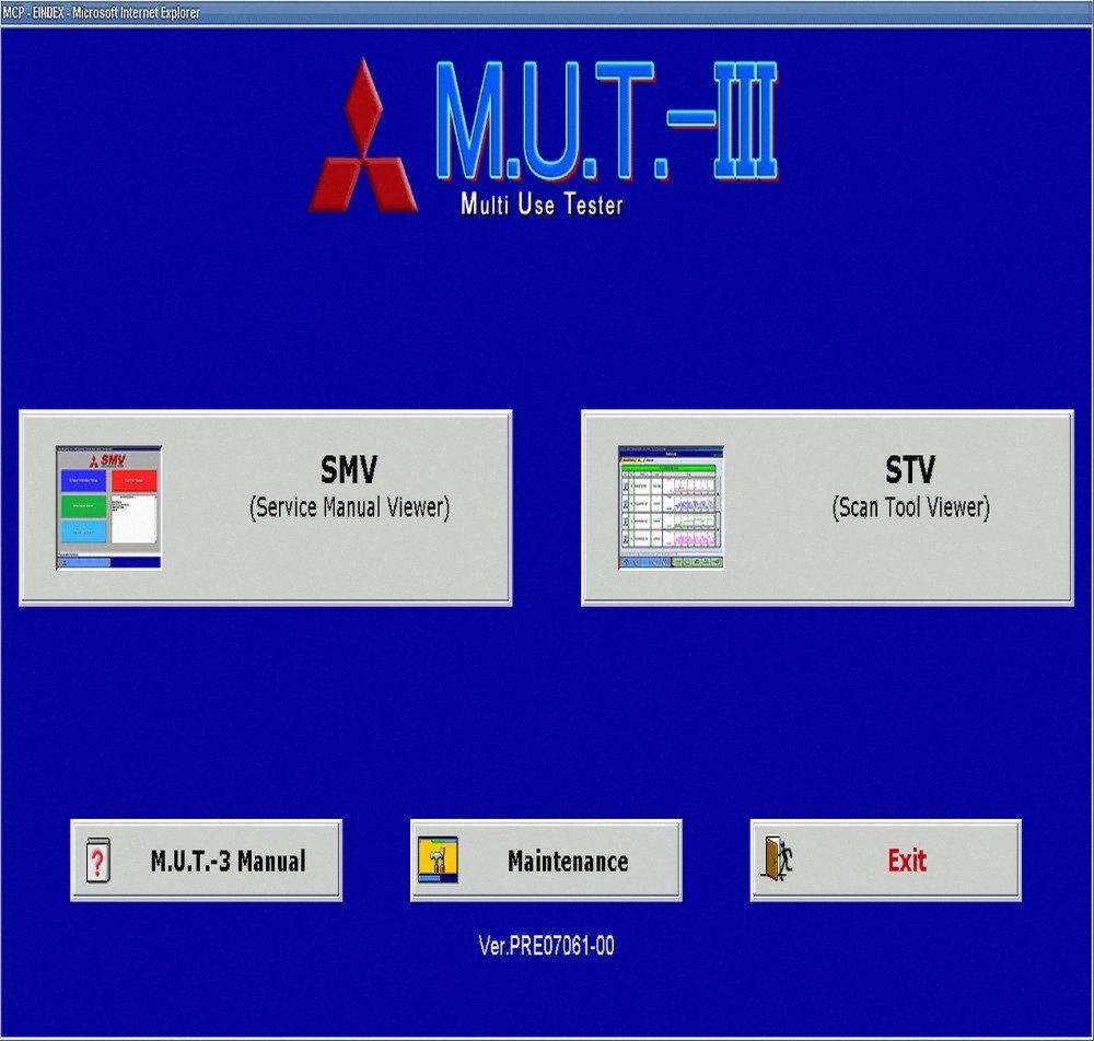 M.U.T. III PRE17091 Diagnostic Software 09,2017 Para Mitsubishi M3hm #