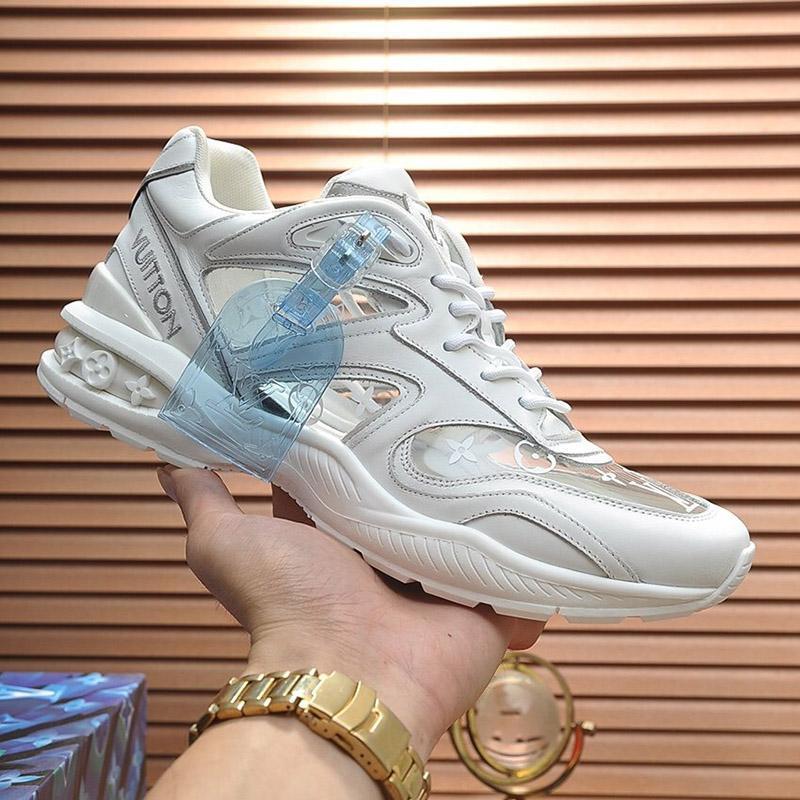 2020 M2 Fashion Trend Designer Herren-Schuh-Leder Mesh-Breathable bequemer Outdoorschuh Lace-up beiläufige Wanderer Schuhe Herren Sneakers