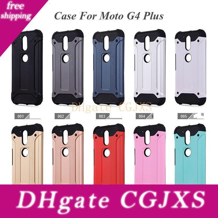 Für Motorola Moto G5 G5 Plus-Moto G6 G6 Plus-Galaxy J2 Prime J3 Prime 10 Farbe Rüstung Hybrid-Verteidiger-Fall Tpu Pc Stoß- Abdeckungs-Fall 100pc