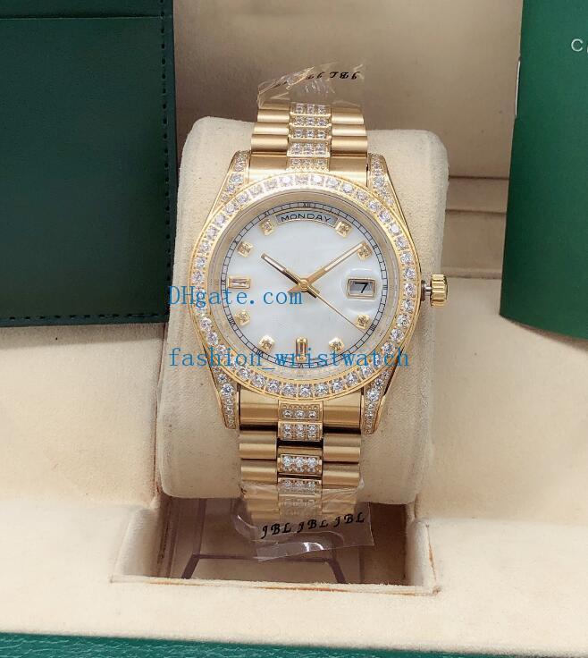 Orologio da polso 41mm diamante 128238 128348 orologio in acciaio inox 18 carati in acciaio inox 2813