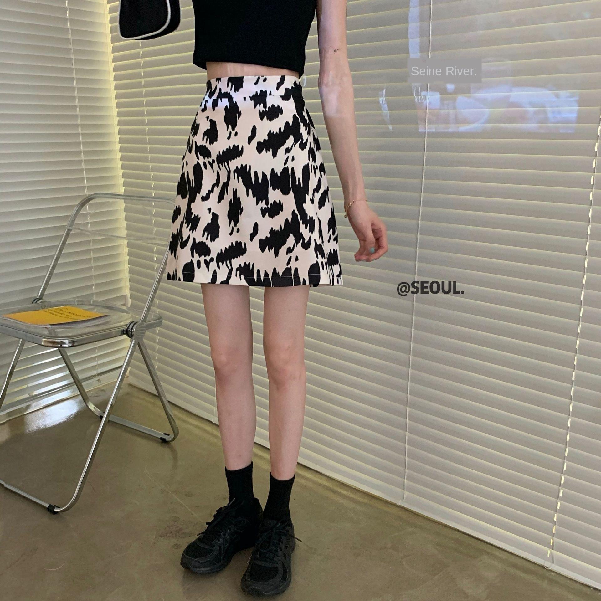T-shirt preto A- linha de vestido T-shirt lixar tee short slim + mais jovem saia de linha A- vaca bonito saia 3EoyK