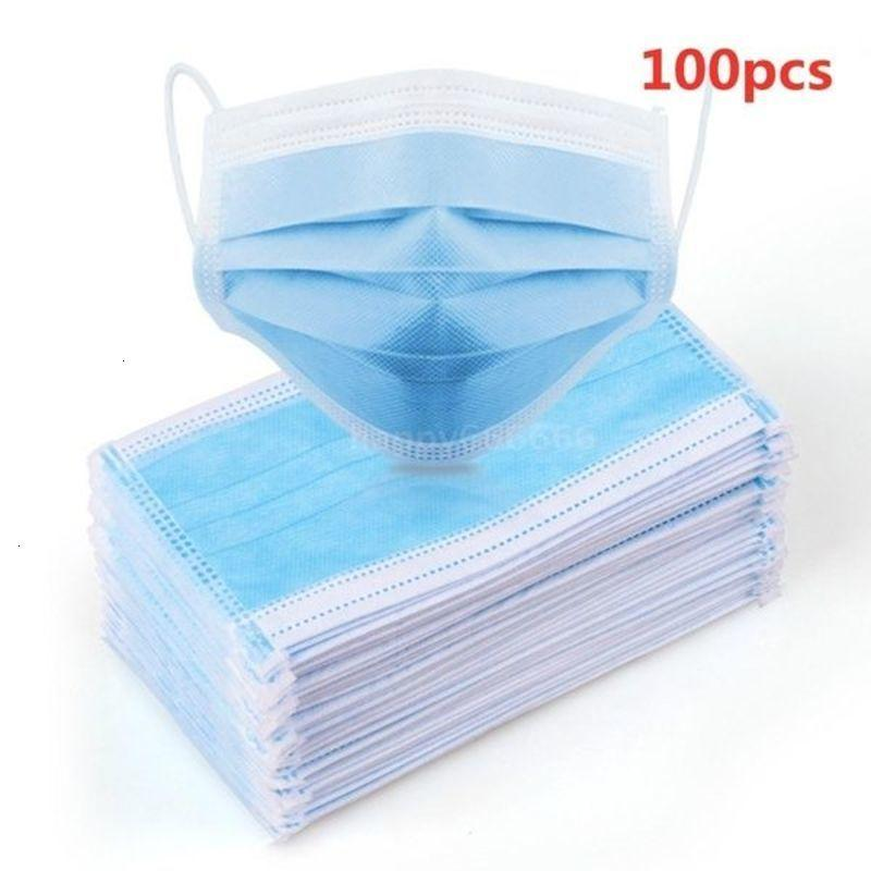 50/100 PCS Maschera monouso Earloop Viso Maschere antirumore 3 strati anti-nebbia Foschia pro Gas di scarico Allergie