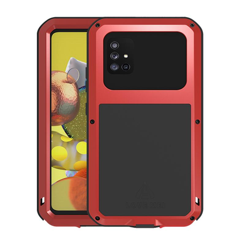 AMOUR MEI étanche Téléphone cas pour Samsung Galaxy A71 5G Shock Dirt Proof Résistant à l'eau armure en métal Couverture Pour Gaaxy A51 5G