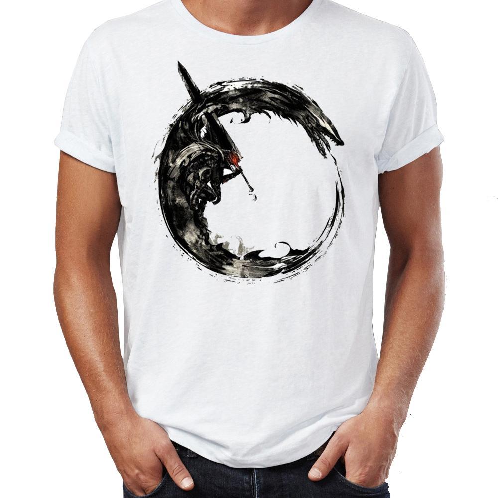 Мужская футболка Berserk Guts Одинокий Наемник Dark Fantasy Манга Высокий Работа Printed Tee