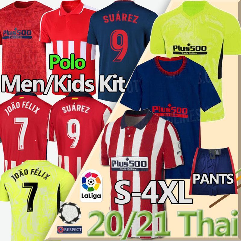 camisa de futebol Thai 20 21 JOÃO FÉLIX Atletico de Madrid Futebol Suarez CORREA KOKE DIEGO COSTA GRIEZMANN camiseta de fútbol LLORENTE